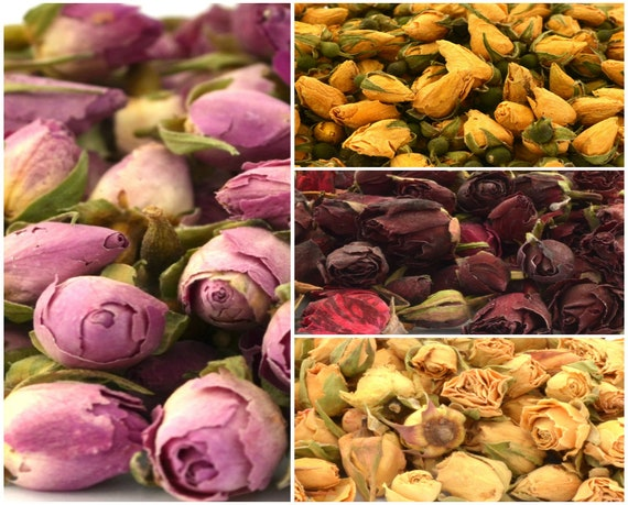 Red Rose Buds 50g Soap Candle Decor Potpourri Dried Flowers Craft Bath Tea