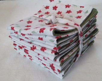 Set of 7 soft recovered flannel wipes