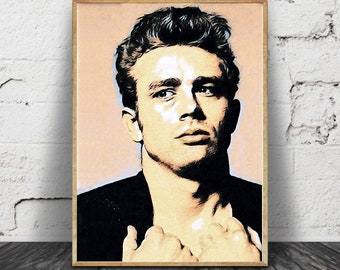 "13""x18"" Brand New. James Dean Canvas Art Wall Hanging"
