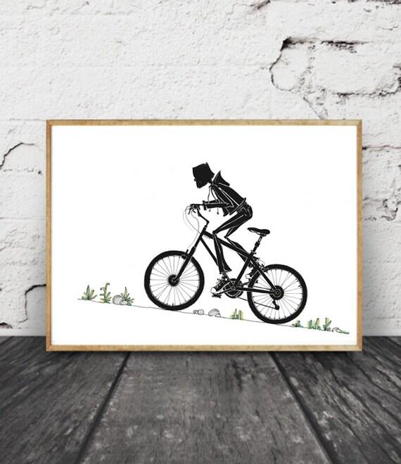 Fahrrad Wand Kunst Fahrrad Kunst Druck Druck Von Original Etsy