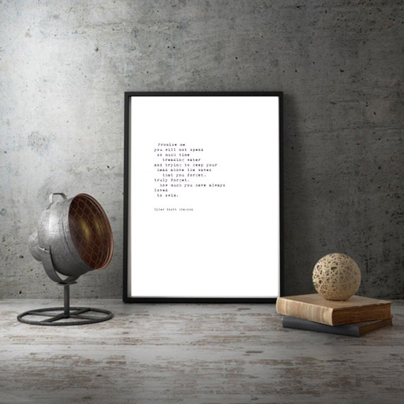 Poem Wall Art Inspirational Wall Art Inspirational Quote Etsy