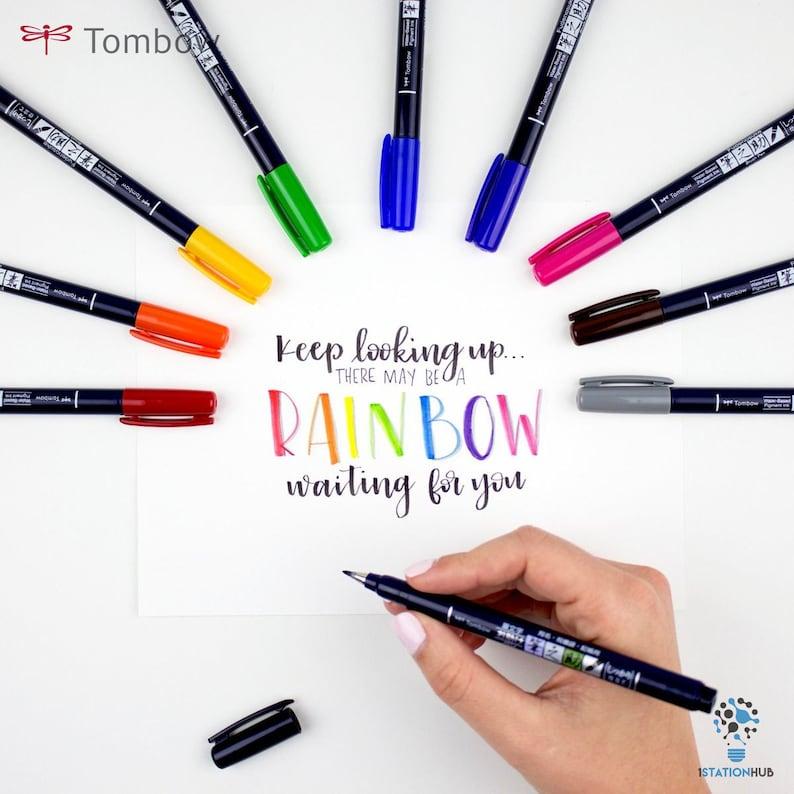 Tombow Fudenosuke Brush Pen 10-Pack Hard Tip Lettering /& Illustration Pen