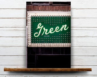 Green Mill Cocktail Lounge - Chicago Music, Chicago Music Venue, Urban Wall Art, Chicago Wall Decor Art Print, Vintage Neon Lounge Sign