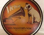 1980s Nipper Tin RCA Victor Cookies quot His Master 39 s Voice quot Bristol Ware