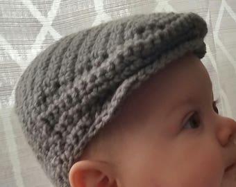 Crochet Scally Cap - Flat Cap - Driver s Cap - Infant - Baby - Toddler -  PreSchool 79e0ba44c6e9