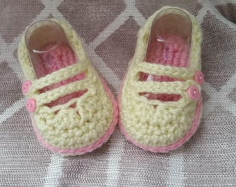 Crochet Two-Strap Mary Janes - Infant - Baby
