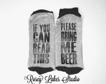 Bring Me Beer Socks, Funny Socks, Beer Socks, Men Socks, Novelty Socks, Bring Me Beer, Socks, Custom Socks, Socks for Men, Gifts For Men