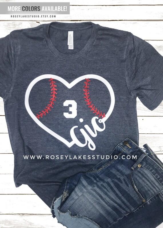 fe64aa44 Custom Baseball Mom Tee Custom Baseball T-Shirt Baseball | Etsy