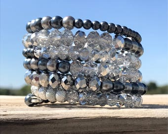There's always a silver lining-wrap bracelet