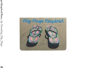Flip Flops Required Passport Holder