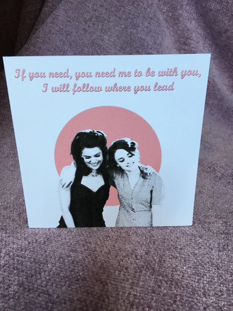 Handmade Personalised Gilmore Girls Lorelai and Rory Mother/'s Day  Greeting Card