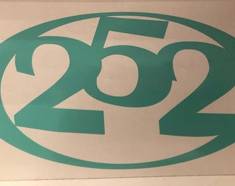 252 Area Code Decal