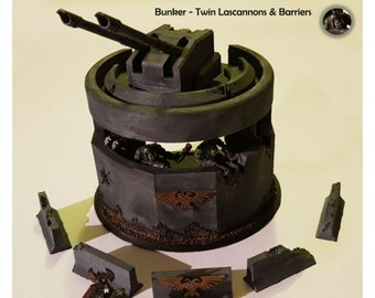 Wargaming bunker and barriers