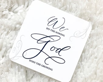 We Do The Sowing God Does The Growing Christian Faith Based Planner Card Journaling Bible Lettering Bible Journaling