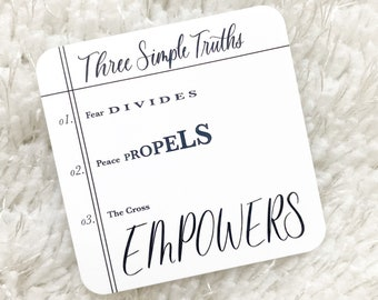 Three Simple Truths Christian Faith Based Planner Card Journaling Card Bible Lettering Bible Journaling Church Motivational Card Planners