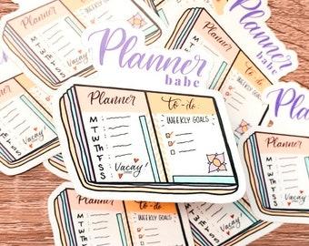 Planner Babe Sticker - Vinyl Sticker Laptop - Planner Stickers - Calligraphy Sticker - Stickers for Planner