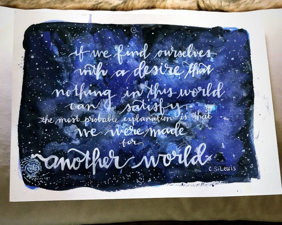 Cs Lewis Galaxy Made For Another World Wall Art Etsy