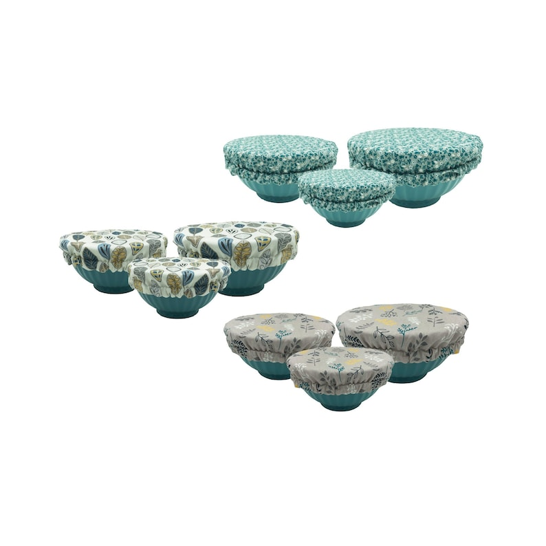 Nature Bowl Covers Set of 3, You Choose Fabric, Eco-Friendly Reusable Bowl  Cover, Food Safe Lining, Beeswax Free, Green Kitchen Accessory