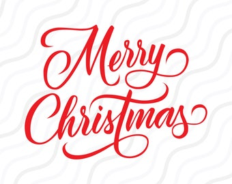 merry christmas wording svg merry christmas svg cut table designsvgdxfpng use with silhouette studio cricut_instant download