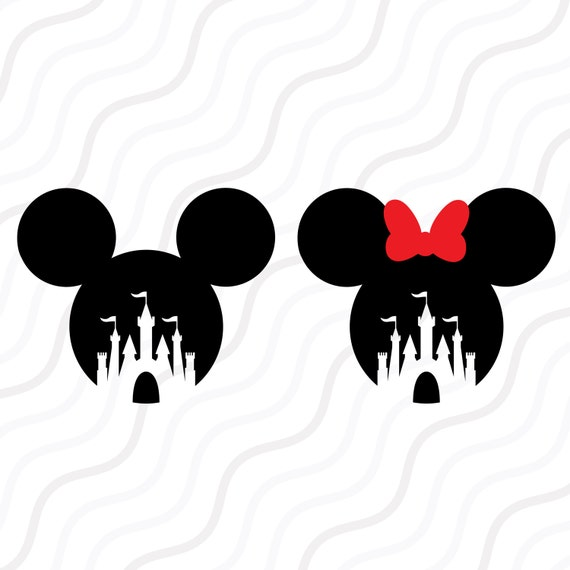 Disney Castle Svg Mickey Mouse Minnie Mouse Svg Cut Table Etsy