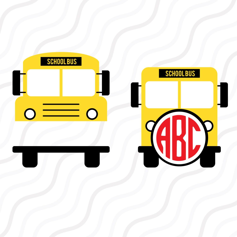 school bus svg back to school svgschool bus monogram svg cut etsy rh etsy com School Bus Black Line School Bus SVG