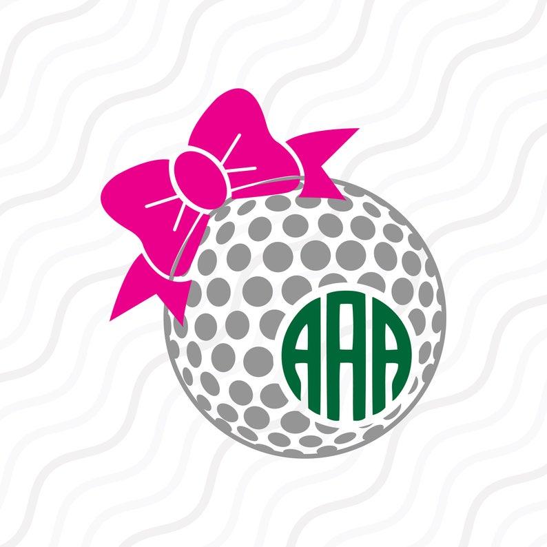 Download Golf Ball Bow SVG Golf SVG Golf Ball Bow Monogram SVG Cut ...