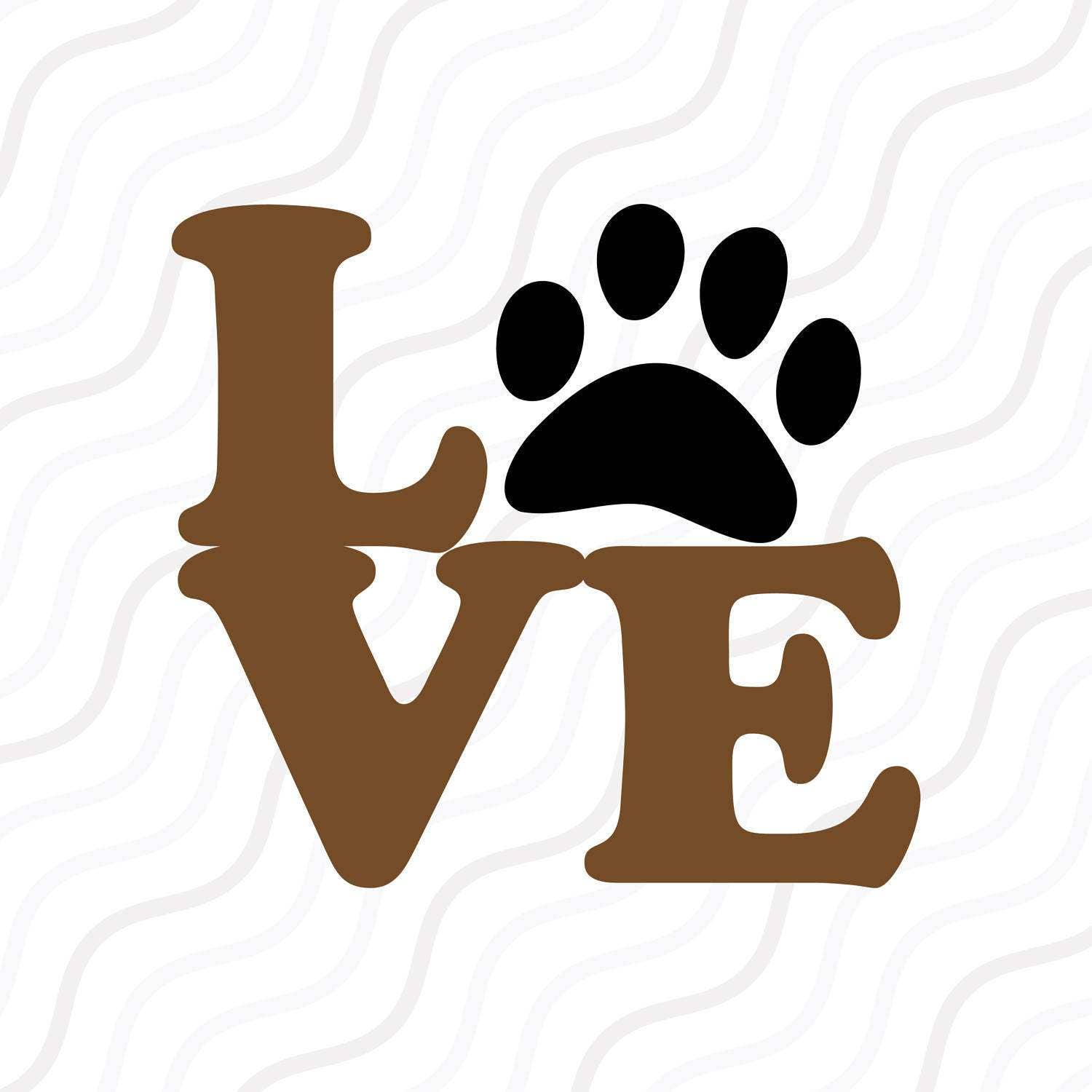 Download Love Paw SVG Puppy Love svg Paw Print SVG Cut table   Etsy