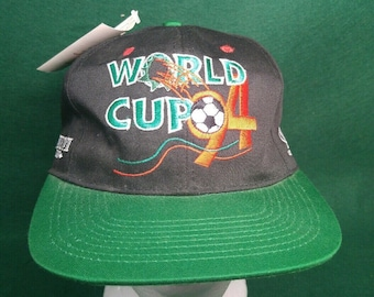 6fa83bbb0d7 WORLD CUP  94 Soccer Embroidered Logo Athletic hat cap truckers snapback N.  W. T