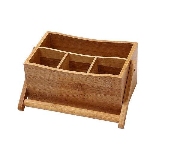 Bamboo Flatware Wooden Caddy by Bristol Club