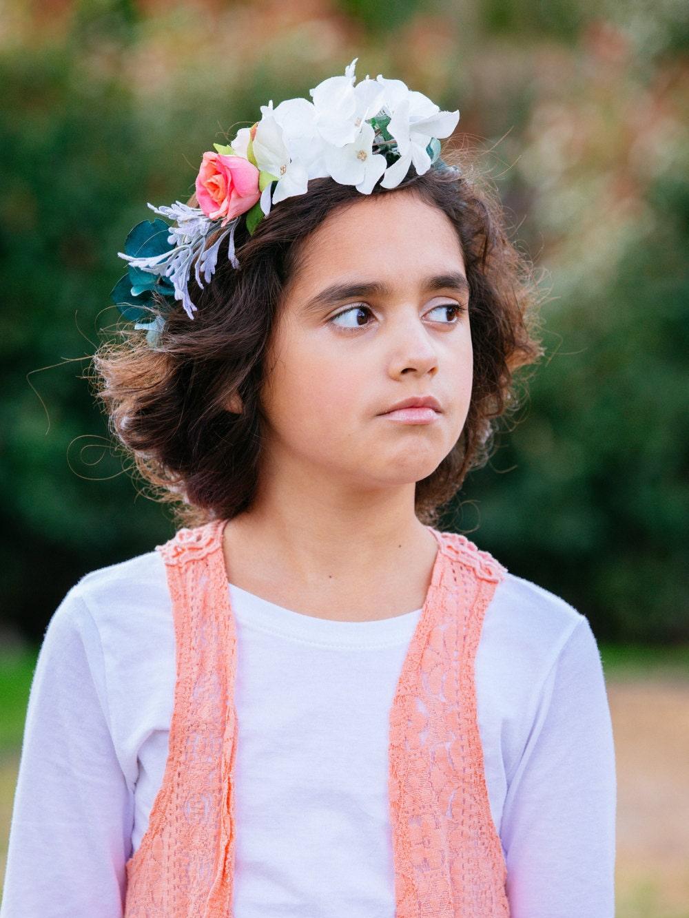 Childrens Flower Crown Flower Crown For Kids Flower Crown Etsy