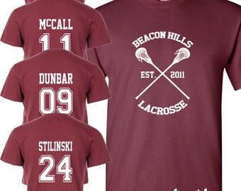 Beacon Hills Lacrosse T-Shirt - Teen Wolf Fan Stilinski Lahey McCall Unisex Top