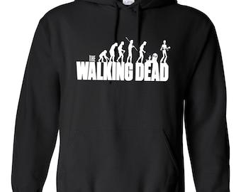 Inspired The Walking Dead Evo Hoodie Unisex Black Daryl Dixon Rick Zombie