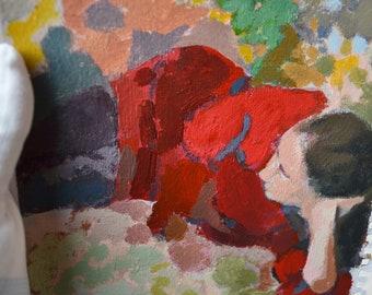 Original Wall Art, Handmade Painting,Impressionist Artwork, Hand Painted,Woman Flowers ,Fine Art, Nature Art, Acrylic Brushstrokes