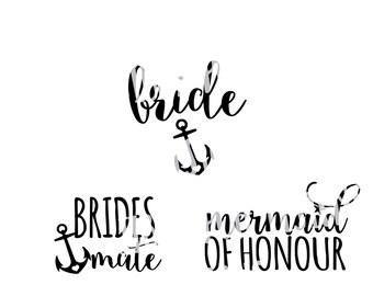 Bridal Party Bundle Cut File