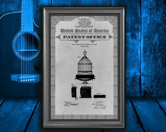 Birdcage Patent Print, Birdcage cage Gift, Birdcage cage Patent Print, Wall Decor, Patent Decor, Birdcage cage Decor, Birdcage cage Art