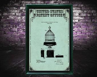 Birdcage Patent Print, Birdcage Gift, Birdcage Patent Print, Wall Decor, Patent Decor, Birdcage Decor, birdcage art
