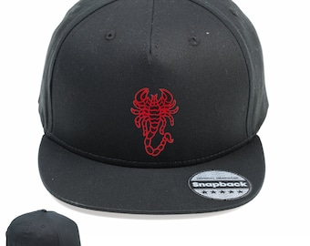 986c09cc339db Red Scorpion Vintage Snapback Embroidered Weathered Rapper Caps- Hip-hop  Hats Ideal gift Birthday present