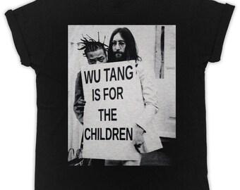 8d8b40e5292 Cool John Lennon Wu tang poster ideal gift birthday present mens unisex  black t-shirts