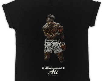 9502d9c58670d5 Cool Muhammad Ali Quotes poster ideal gift birthday present mens unisex  black t-shirts