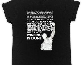 7ad2445a Cool Rocky Balboa Quotes poster ideal gift birthday present mens unisex  black t-shirts