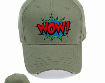 5910ca53c6a Wow Slogan Vintage Snapback Embroidered Weathered Rapper Caps- Hip-hop Hats  Ideal gift Birthday present