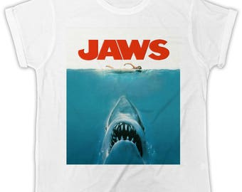 3cb7413985a022 Jaws Movie poster T-shirt birthday present ideal gift cool retro t-shirt  2068