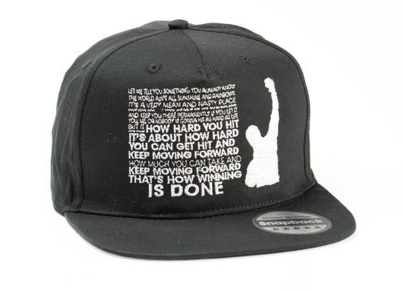 Rocky Balboa quotes Snapback Fashion Embroidered Rapper Caps  4b69b41c28b