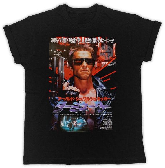 Cool Terminator Japanese Poster T-shirt for Men