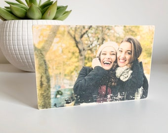 4x6 Personalised Wood Photo Block - Photo Block - Transferred Image - Wooden Gifts - Pet Portraits - Freestanding Wooden Photo