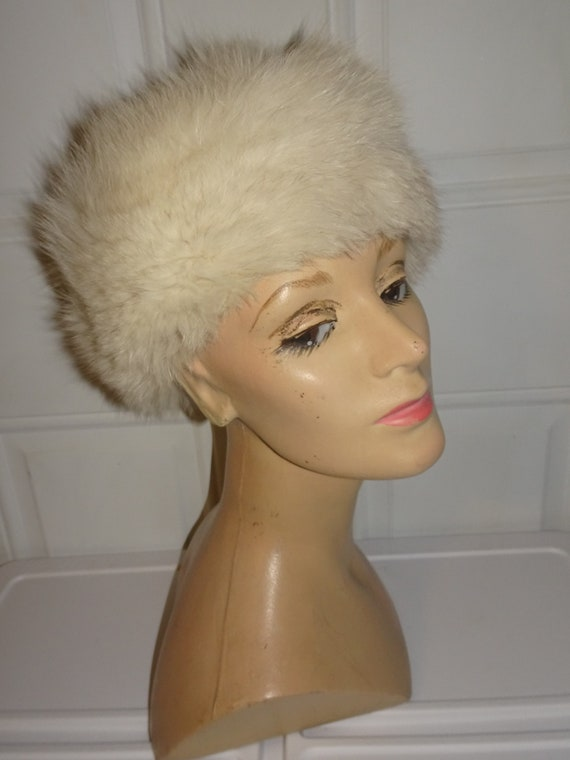 Genuine Blue Fox Fur Russian Style Hat