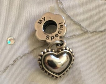 d95348444 ON SALE Genuine Pandora Sterling My Special Sister Dangle Charm 791383 *New*