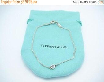 b67e4dfe6b0f ON SALE Tiffany   Co. Silver Elsa Peretti Color By The Yard Aquamarine  Bracelet 7.25