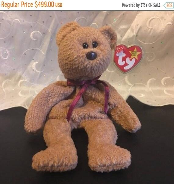 3f831d92763 ON SALE Ty Beanie Baby Very Rare Curly Bear Original