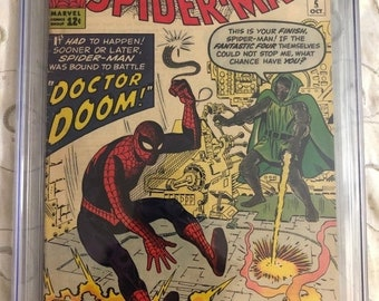ON SALE Amazing Spider-Man #5 CGC 4.5 (off-white pages) 1st Doctor Doom App Outside Fantastic Four 1963